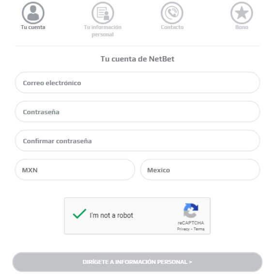 NetBet Registro